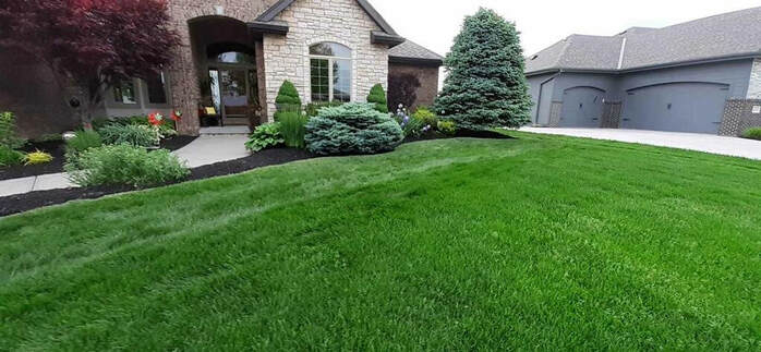 Kozy Lawn Care mowing job